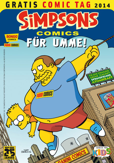 Simpsons Comics für umme - Gratis Comic Tag 2014 - Das Cover
