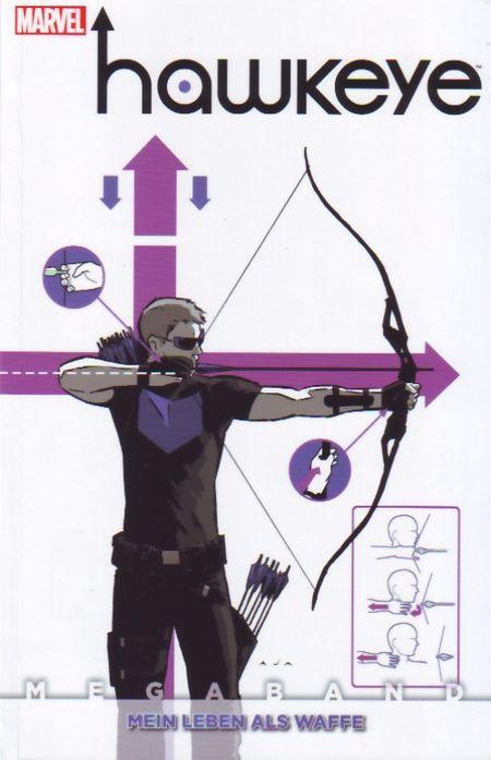 Hawkeye Megaband: 1: Mein Leben als Waffe - Das Cover