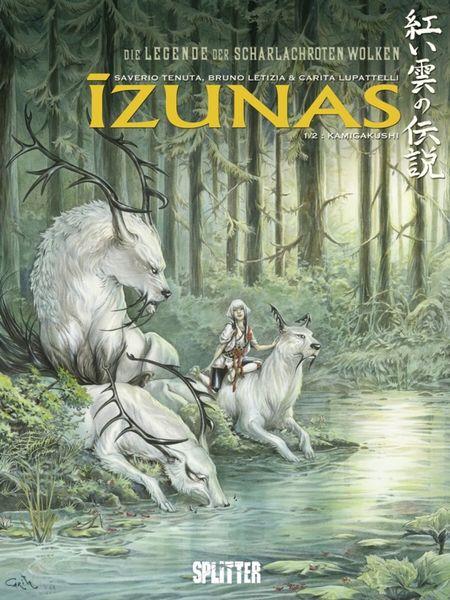 Izunas - Legende der Scharlachroten Wolken 1: Kamigakushi - Das Cover