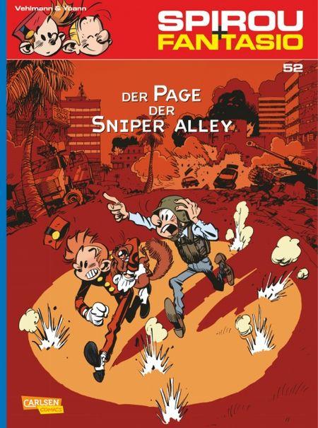 Spirou und Fantasio 52: Der Page der Sniper Alley - Das Cover