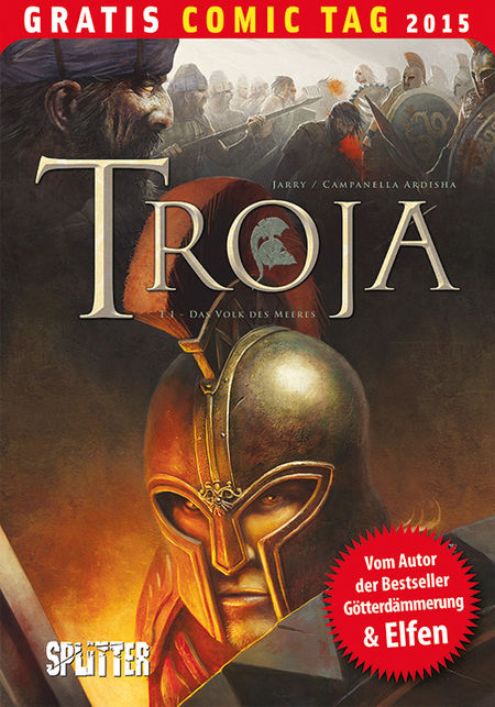 Troja 1: Das Volk des Meeres – Gratis Comic Tag 2015 - Das Cover