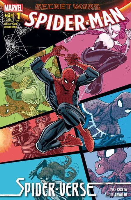 Secret Wars Sonderband 1: Spider-Man - Spider-Verse - Das Cover