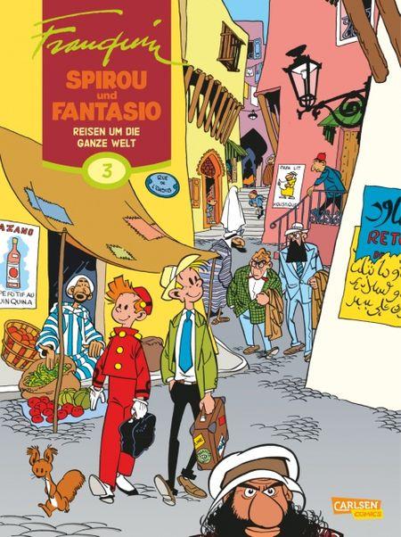 Spirou und Fantasio 3: Reisen um die ganze Welt - Das Cover