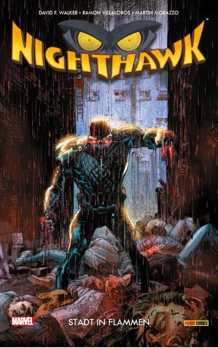 Nighthawk: Stadt in Flammen - Das Cover