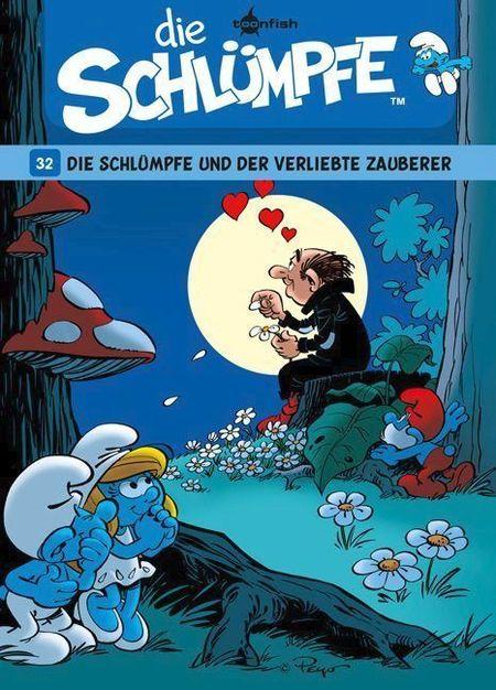 Die Schlümpfe 32: Die Schlümpfe und der verliebte Zauberer - Das Cover