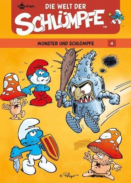 Die Welt der Schlümpfe 4: Von Monstern und Schlümpfen - Das Cover
