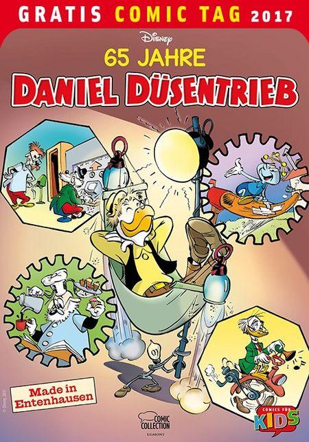 65 Jahre Daniel Düsentrieb - Gratis Comic Tag 2017 - Das Cover