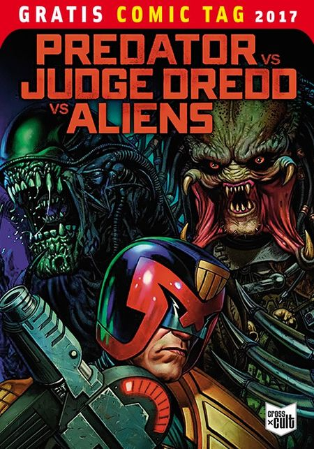 Predator vs. Judge Dredd vs. Aliens - Gratis Comic Tag 2017 - Das Cover