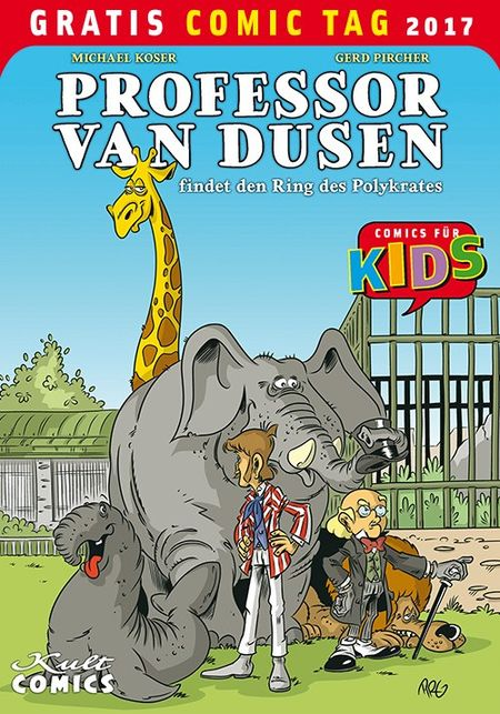 Professor van Dusen– Gratis Comic Tag 2017 - Das Cover