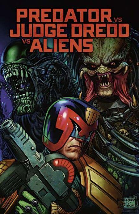 Predator vs Judge Dredd vs Aliens - Das Cover