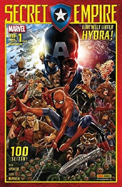 Secret Empire 1: Eine Welt unter Hydra  - Das Cover