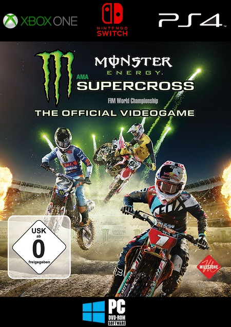 Monster Energy Supercross - The Official Videogame - Der Packshot