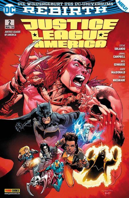Justice League of America 2: Der Fluch des Kingbutcher - Das Cover