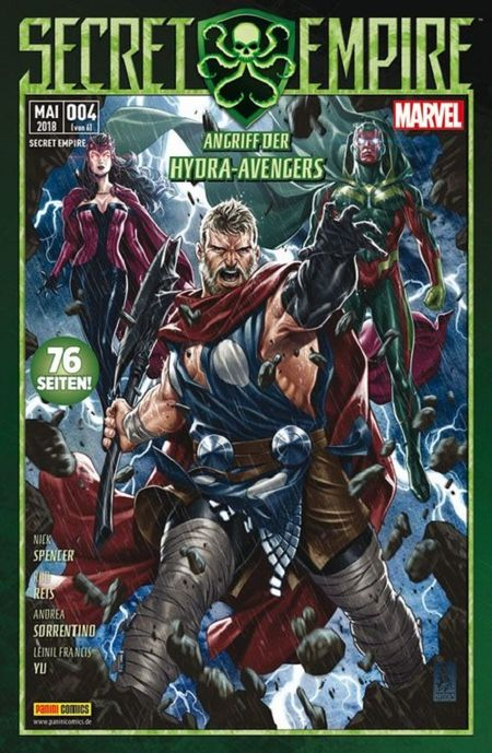 Secret Empire 4: Angriff der Hydra-Avengers - Das Cover