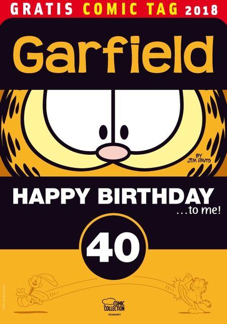 Garfield: Happy Birthday to me – Gratis Comic Tag 2018 - Das Cover