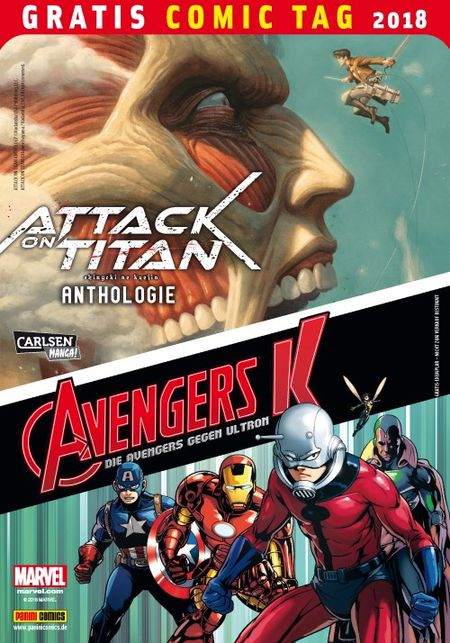 Attack on Titan-Anthologie/Avengers K: Die Avengers gegen Ultron – Gratis Comic Tag 2018 - Das Cover