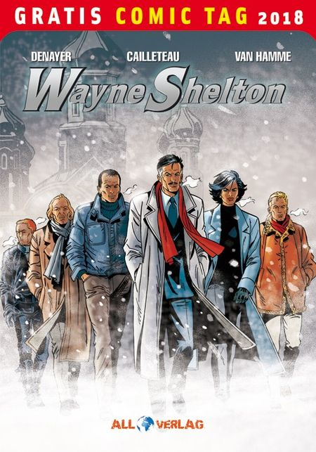 Wayne Shelton - Gratis Comic Tag 2018 - Das Cover