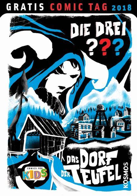 Die drei ???: Das Dorf der Teufel – Gratis Comic Tag 2018 - Das Cover