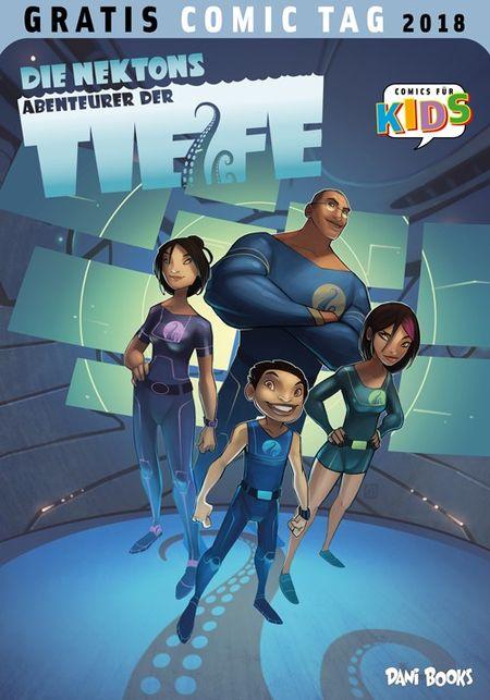 Die Nektons: Abenteurer der Tiefe – Gratis Comic Tag 2018 - Das Cover
