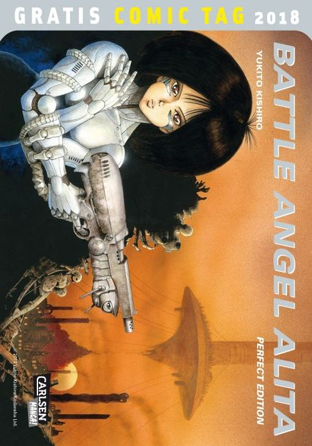 Battle Angel Alita Perfect Edition 1: Rostiger Engel - Gratis Comic Tag 2018 - Das Cover