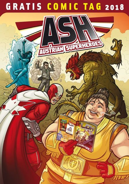 Austrian Superheroes / Liga deutscher Helden - Gratis Comic Tag 2018 - Das Cover