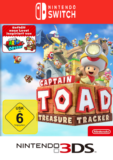 Captain Toad: Treasure Tracker - Der Packshot