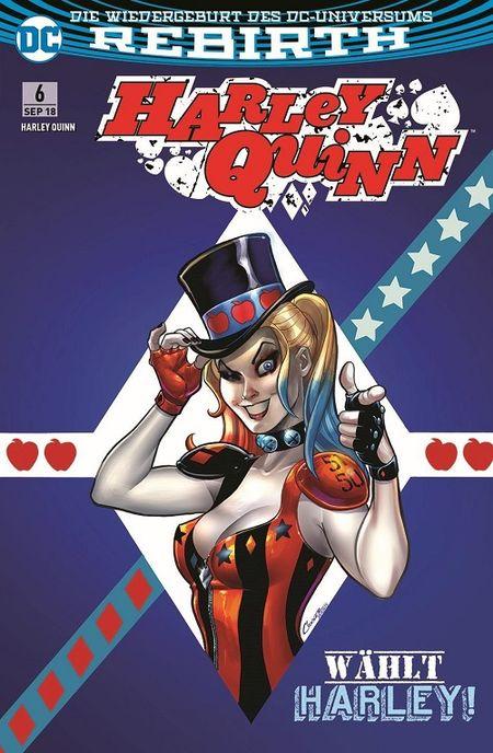 Harley Quinn (Rebirth) 6: Wählt Harley! - Das Cover