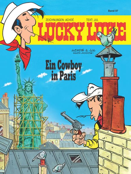 Lucky Luke 97: Ein Cowboy in Paris - Das Cover
