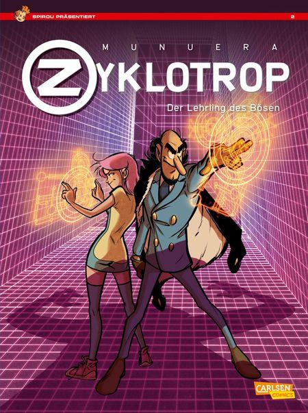 Spirou Präsentiert: Zyklotrop – Der Lehrling des Bösen - Das Cover