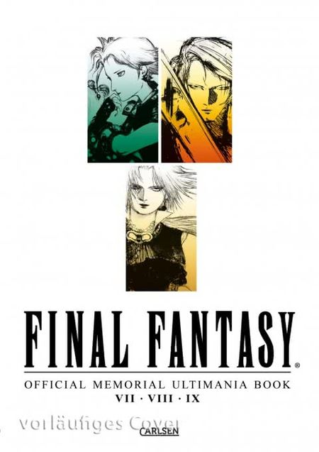 Final Fantasy Official Memorial Ultimania Book VII VIII IX - Das Cover