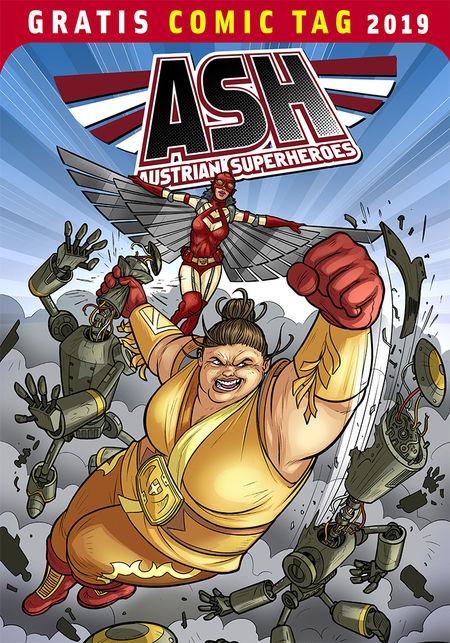 ASH Austrian Superheroes - Gratis Comic Tag 2019 - Das Cover