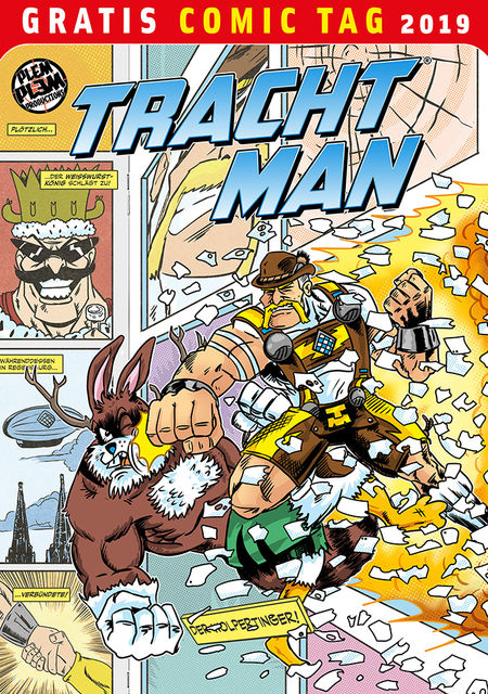 Gratis Comic Tag 2019: Tracht Man - Das Cover