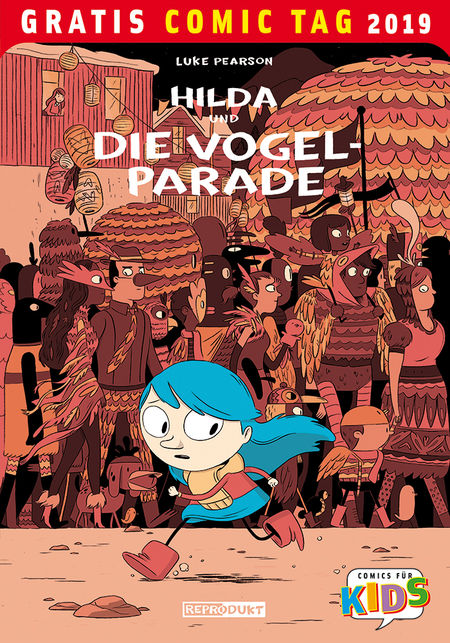 Gratis Comic Tag 2019: Hilda und die Vogelparade - Das Cover