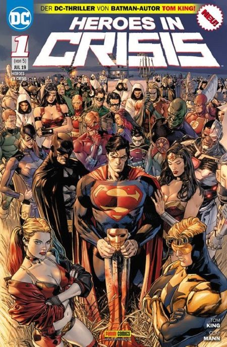 Heroes in Crisis 1 - Das Cover