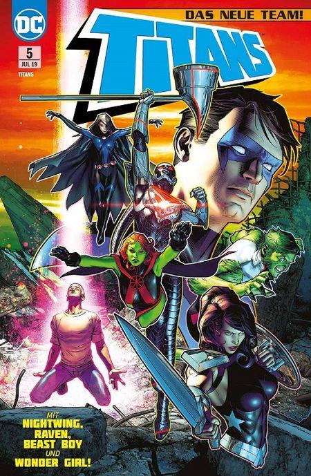 Titans (Rebirth) 5: Die neuen Titanen  - Das Cover
