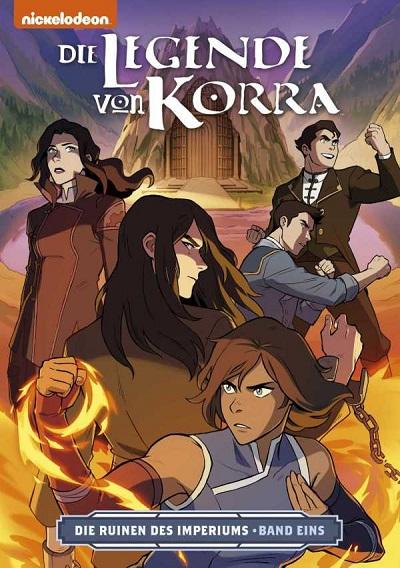 Die Legende von Korra: Die Ruinen des Imperiums – Teil 1 - Das Cover