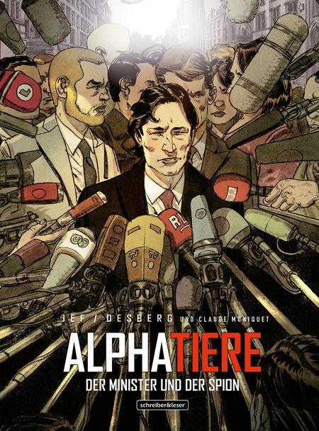 Alphatiere – Der Minister und der Spion - Das Cover
