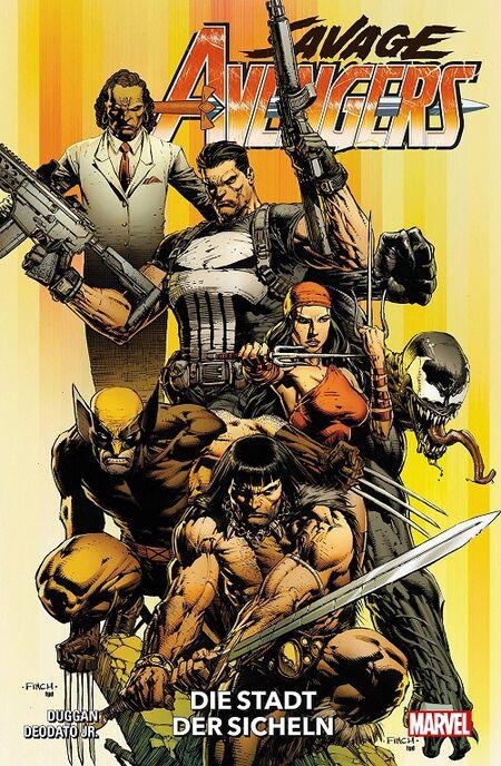 Savage Avengers 1: Die Stadt der Sicheln - Das Cover