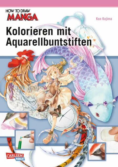 How to draw Manga: Kolorieren mit Aquarellbuntstiften - Das Cover