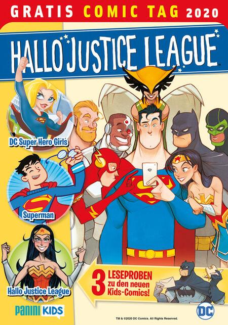 Hallo Justice League – Gratis Comic Tag 2020 - Das Cover