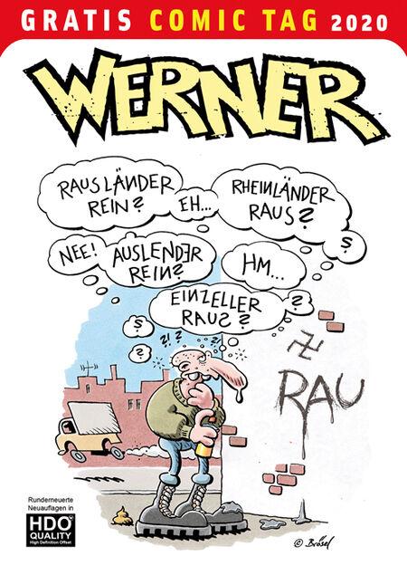 Werner – Gratis Comic Tag 2020 - Das Cover