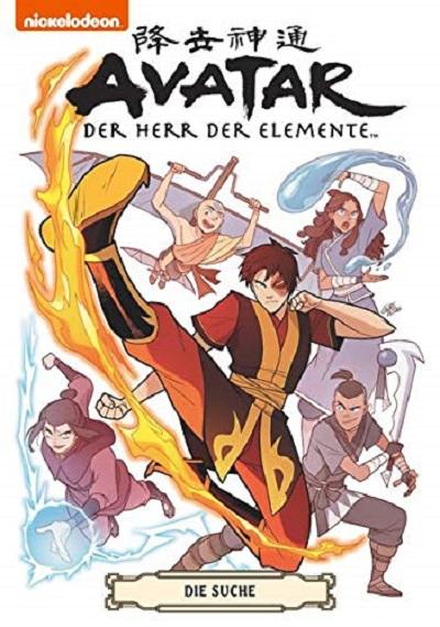 Avatar – Der Herr der Elemente Sammelband: Die Suche - Das Cover
