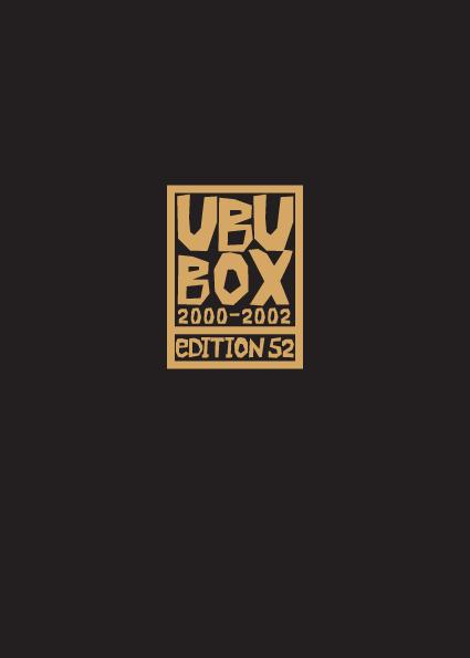 Schuber Ubu Imperator Band 1 bis 6 - Das Cover
