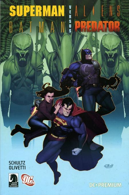 DC Premium 52: Superman / Batman versus Aliens / Predator - Das Cover