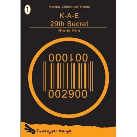 K-A-E 29th Secret 1: Blank File - Das Cover