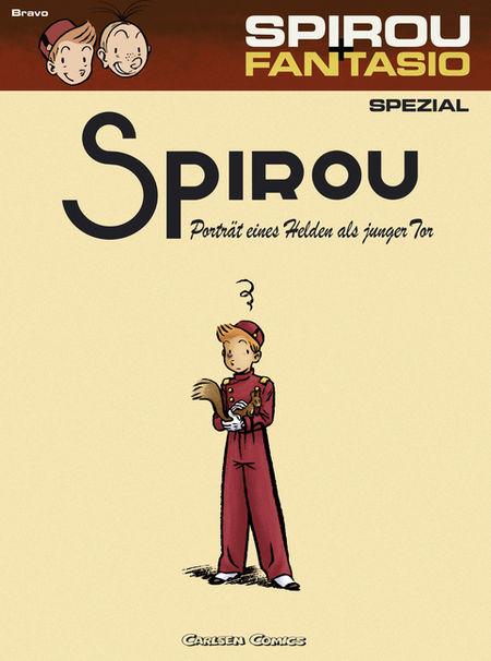 Spirou & Fantasio Spezial 8: Porträt eines Helden als junger Tor - Das Cover