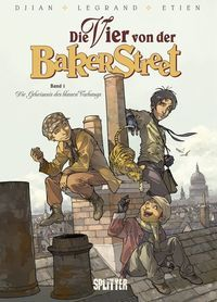 Die Vier von der Baker Street 1: Das Geheimnis des blauen Vorhangs - Klickt hier für die große Abbildung zur Rezension