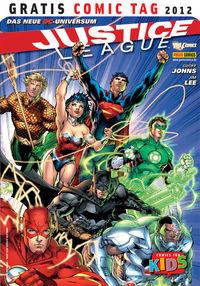 Justice League - Gratis Comic Tag 2012 - Klickt hier für die große Abbildung zur Rezension