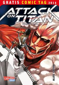 Attack on Titan - Gratis Comic Tag 2014 - Klickt hier für die große Abbildung zur Rezension