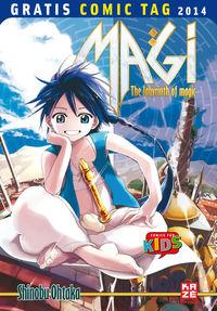 Magi - The Labyrinth of Magic - Gratis Comic Tag 2014 - Klickt hier für die große Abbildung zur Rezension
